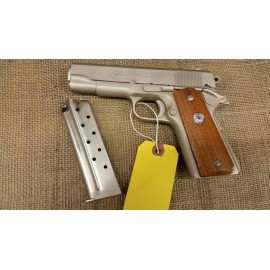 Colt Combat Commander 38 super Satin Nickel