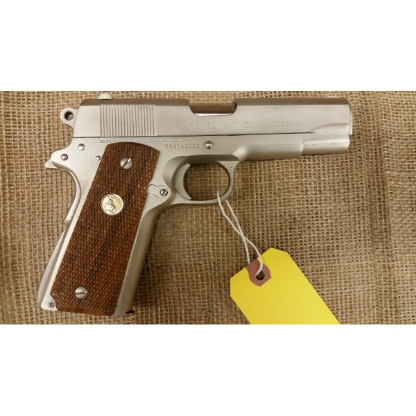 Colt Combat Commander 45acp Satin Nickel