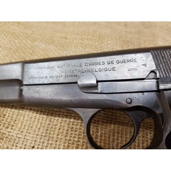 FN Browning Hi Power Nazi marked matching numbers