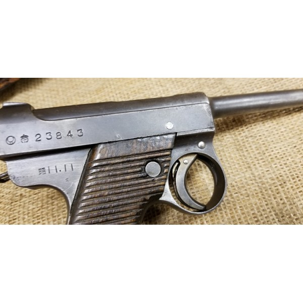 Japanese Type 14 M14 Nambu Pistol With Holster 1936
