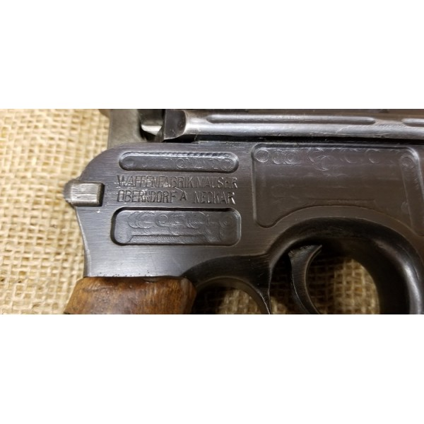 Mauser C96 Red 9 Broomhandle w/matching stock