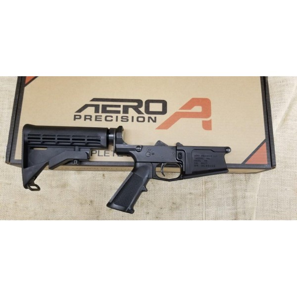M5 (.308) Complete Lower Receiver, Standard - Anodized Black