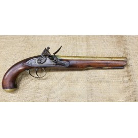 English Brass Barrelled Flintlock Pistol by Phillips