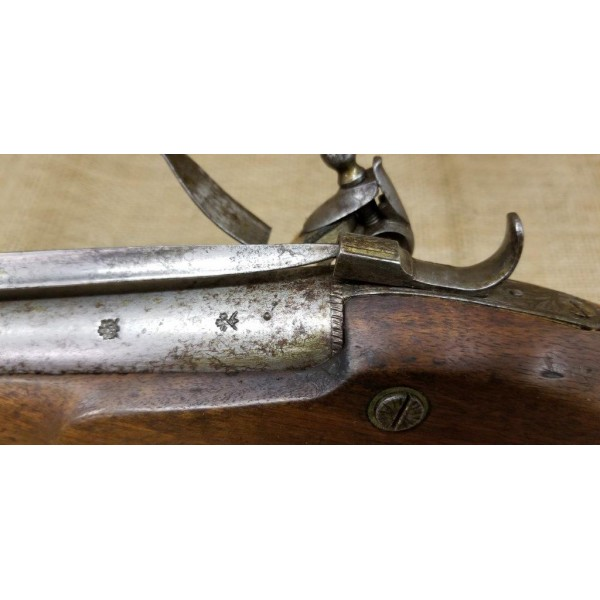British Coach Gun Blunderbuss with Spring Bayonet by Hetherington