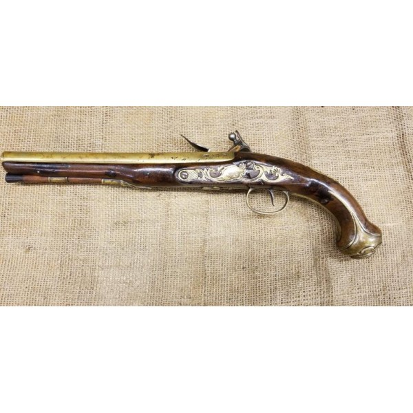 British Georgian Flintlock Pistol by Rea of London