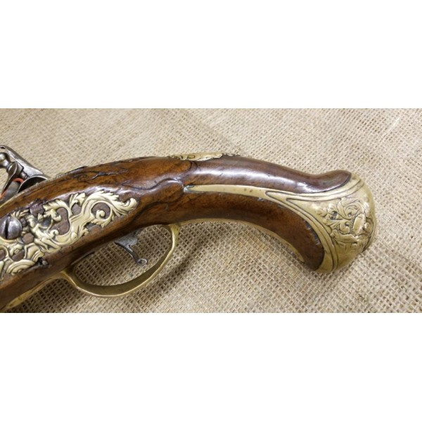 Dutch Flintlock Holster Pistol Signed B. A. Zuerc - Utrecht