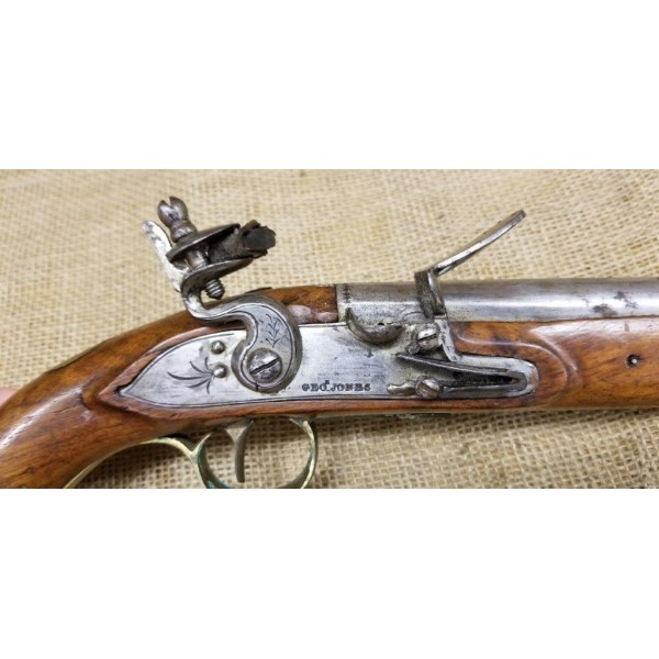 British Flintlock Pistol by George Jones