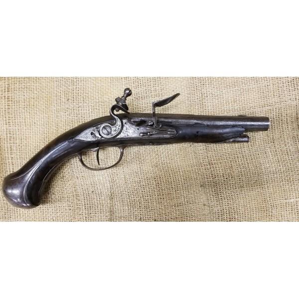 French Le Grande Belle Isle Flintlock Pistol