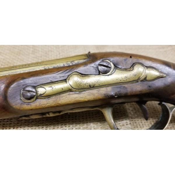 French Boarding Pistol Flintlock signed Cassagnard A. Nantes
